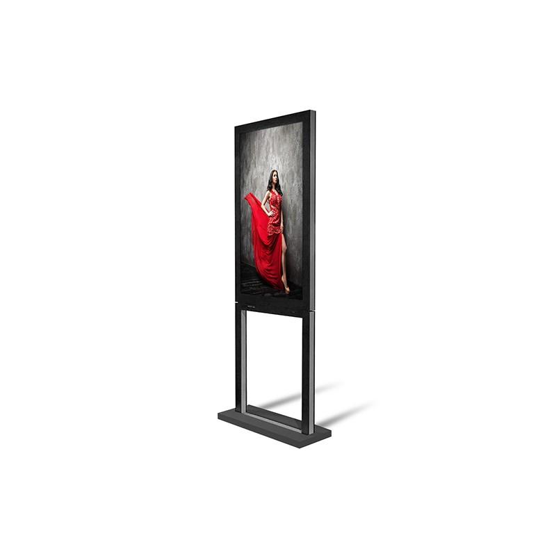 """Écran vitrine double faces 55"""" DYNASCAN DS551DR4 avec écran extérieur d'une luminosité de 3000 CDL et intérieur de 1000 CDL"""