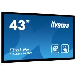 "IIYAMA PROLITE T4361MSC-B1 Écran 43"" tactile 40 points"