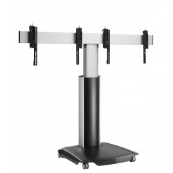 """VOGEL'S Connect'It - Support sur chariot roulettes réglable en hauteur pour deux écrans 42"""" à 55"""""""
