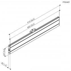 """VOGEL'S Support double face sur colonne fixée au sol et au plafond pour écrans de 65"""" à 103"""""""