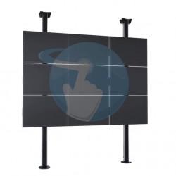 Support mur vidéo d'écrans VOGEL'S Connect'IT pour mur vidéo avec sur colonnes du sol au plafond