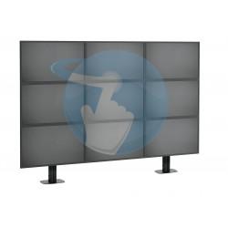 Support mur vidéo d'écrans VOGEL'S Connect'IT pour mur vidéo avec fixations au sol