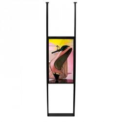 ERARD OMNIUM Support colonne pour fixation du sol au plafond pour écrans vitrine SAMSUNG OM46N et OM46N-D