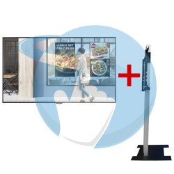 """Pack Écran Vitrine haute luminosité LG 55XS4F 55"""" avec Support ERARD XPO inversé pour vitrines"""