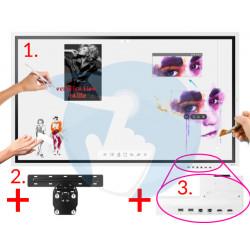 """KIT SAMSUNG FLIP 65"""" ave Écran + Support mural + Boitier de Connectiques Face Avant"""
