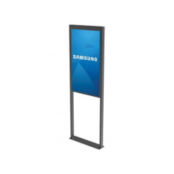 "Pack Écran Vitrine double face SAMSUNG OM46N-D 46"" avec Support PEERLESS-AV DS-OM46ND FLOOR à fixer au sol"