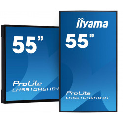 "IIYAMA PROLITE LH5510HSHB-B1 Écran vitrine 55"" 2500 CDL"