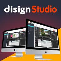 Image présentation application DISIGN Studio, l'interface graphique de gestion d'affichages dynamiques sur écrans