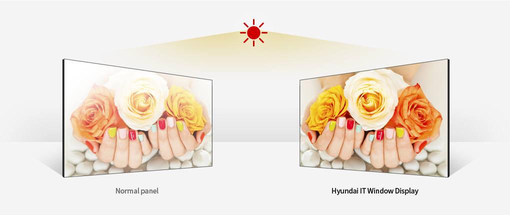 """Image de description de l'écran vitrine haute luminosité HYUNDAI 32"""" D325MN 2000 CDL"""