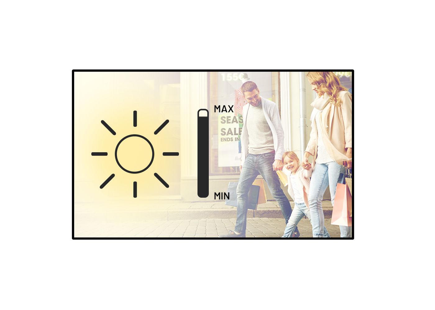 "Image decsciption écran vitrine haute luminosité IIYAMA PROLITE LH5510HSHB-B1 55"""