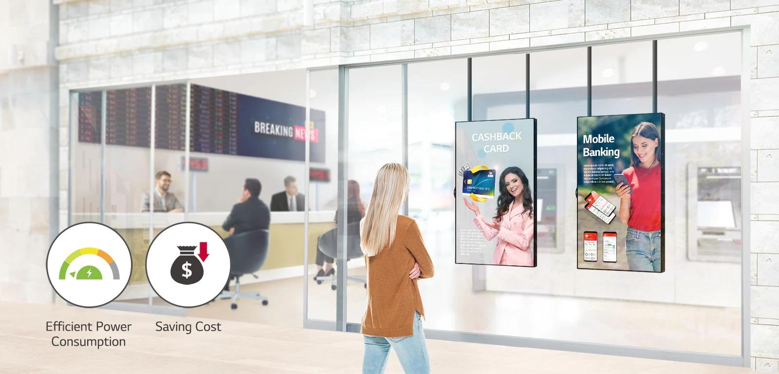 Image description écran vitrine haute luminosité LG 55XS4J