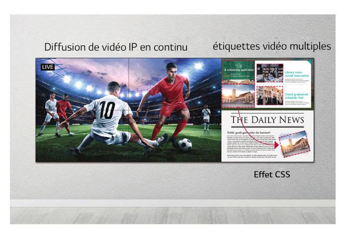 """Image description écran 49"""" pour murs vidéos et écrans géants LG 49VL7F"""