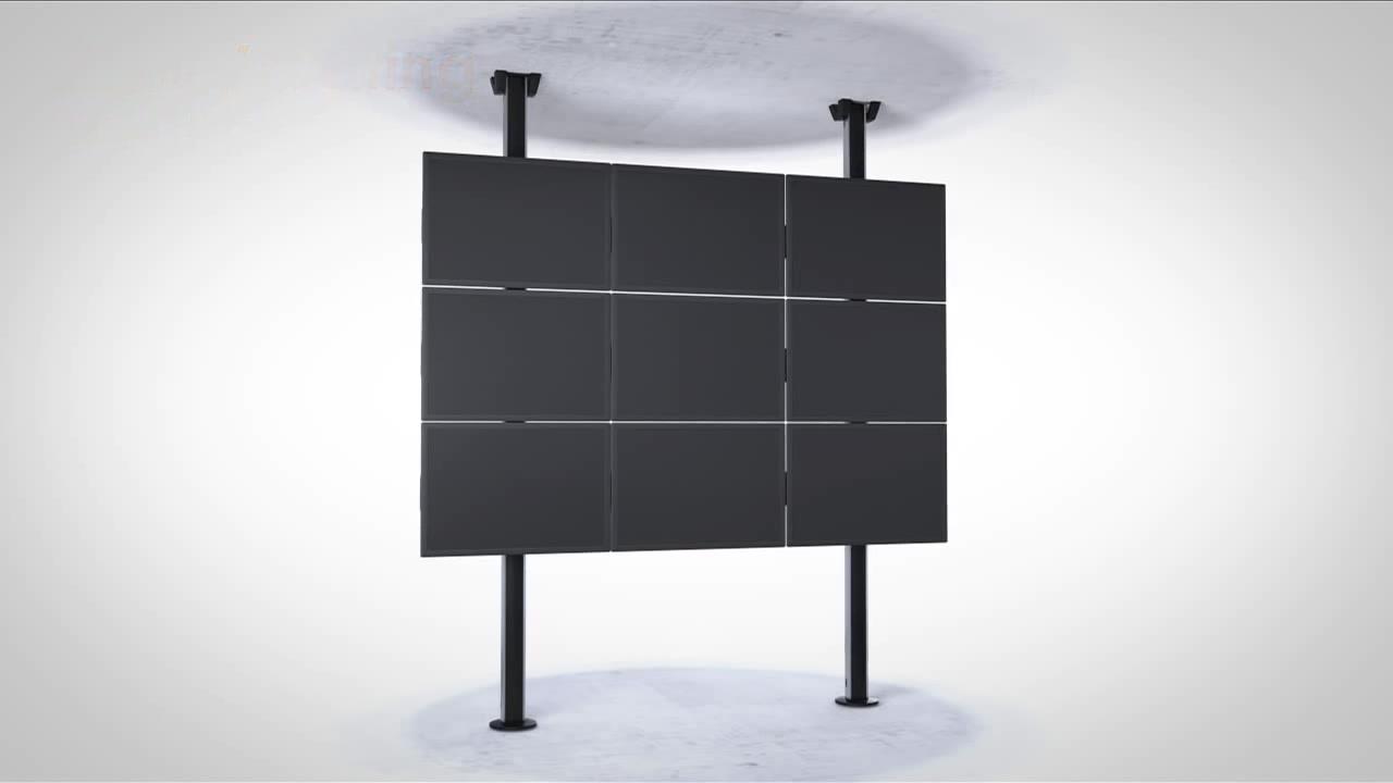 Image description supports au sol compatibles et extensible pour la confection de murs vidéos.