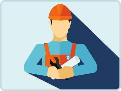 Image engagements service technique d'installation des équipements sur site